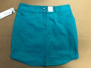 1 NWT ADIDAS WOMEN'S SKORT, SIZE: 4, COLOR: TEAL (P3)