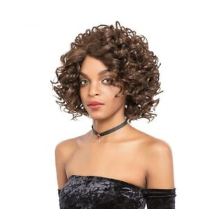 Short Synthetic Lace Front Wig Curly 11in High Temperature Fiber Women Cosplay