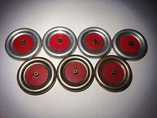 Vintage A.C. Gilbert Erector Vehicle Wheels - Seven Silver & Red w/ Set Screws