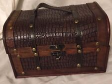 Ashland  Home Collation Faux Alligator Print Mini Trunk Chest With Felt Lining