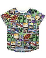 Minecraft T Shirt Overworld Steve Creeper Boy's Kids Short Sleeve Shirt Top