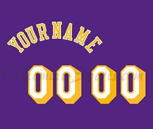 Los Angeles Lakers Customized Number Kit for 1998-1999 Purple Jersey