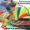 5PCs Resistance Bands Power Strength Yoga Exercise Fitness Gym Crossfit Workout