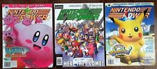 NINTENDO POWER LOT: Volumes 158 Here They Come/ 138 Pikachui/ 134 Kirby 64