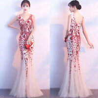 NEW Evening Formal Party Ball Gown Prom Bridesmaid Long Fishtail Sexy Dress SFLS