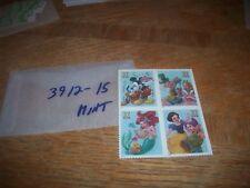 US stamp Scott 3912-15  set of 4 MNH stamps in a block Disney