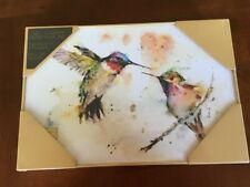 """The Lovebirds"" Hummingbird Wall Art Dean Crouser Big Sky Carvers 12.25W x 8.25H"