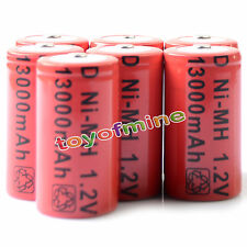 7 X D Rechargeable Battery 13000mAh NiMH RED 1.2V