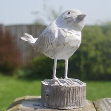 Birds Garden Ornament Home Sculpture Figure Handmade Wood Carving Planter Decor