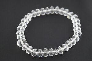 Diamond Cut Shiny Crystal Glass Beads Bracelet Japanese Juzu Kyoto Handmade