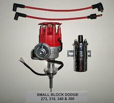 Chrysler Small Block 273-318-340-360 Red SMALL CAP HEI Distributor + Chrome Coil