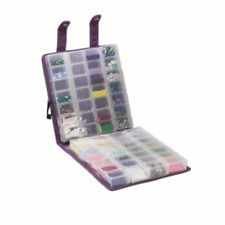 Purple Suede Organizer Craft Mates EZY Lock Double Snappin 9-1/2 x 9 x 2-3/4 NEW