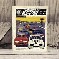 Pocono Sports Car Grand Prix 1992 11th Annual Double National Program Book