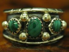 925 Sterling Silver Ring With Malachite Decorations/ Sterling/ 0.2oz/ Rg