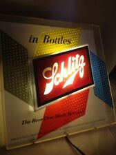 Schlitz Beer Sign Lighted 1955 Vintage