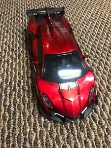 Transforming RC Red Sportscar