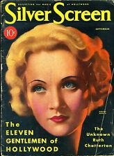 SILVER SCREEN  • SEPT.1931 • MARLENE DIETRICH • cover artist JOHN ROLSTON CLARKE