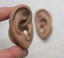 Skinlike Brown Silicone Ear Models - 3D sound - Prop - Acupuncture Practice