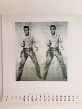 ANDY WARHOL,'DOUBLE ELVIS,1963' AUTHENTIC ART PRINT FROM  1994 TE NEUES CALENDAR