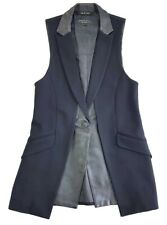 Rag & Bone Waistcoat Sleeveless Blazer Vest Black Size 0 Womens