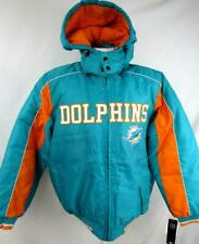 Miami Dolphins Mens Medium Full Zip Winter Jacket with Removable Hood ADOL  167 0e3fa2d67