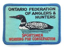 Ontario Federation Anglers Hunters Sportsmen Conservation Iron On Patch S354