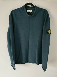 Stone Island Jumper Large Teal Authentic