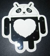 "ANDROID DROID Panda Bot robot logo Sticker 3.5"" Google andrew bell"