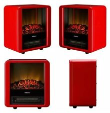Electric Micro Fire Dimplex Optiflame 1.5 KW  in High Gloss Red
