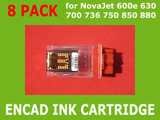 NEW 8x Ink Cartridge For Encad NovaJet 736 750 850 880 600 630 700