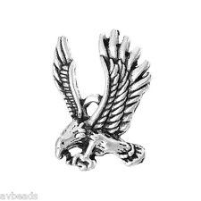 10pcs Eagle Charms Metal Pendants Antique Silver 26x23mm AVBeads