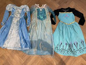 Girls Disney Frozen Fancy Dress Costume Elsa Anna Bundle Age 7-8 PLUS CINDERELLA