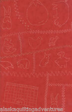 MODA Fabric ~ CRAZY FOR RED ~ by Minick & Simpson (14790 14) Red - by 1/2 yard