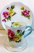 SHELLEY DAINTY DEMITASSE CUP & SAUCER Begonia Pattern No. 13427