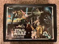 Vintage 1977 Star Wars Mini-Action Figure Collector's Case & 26 Action figures