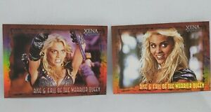 Xena Rise & Fall Of The Warrior Queen Non Sports Trading Card WQ2 & WQ7 Mint