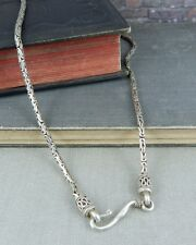 Sterling Silver Byzantine Link Necklace w/ Hook Clasp