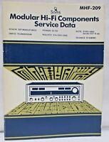 Sams Modular Hi-Fi Components Service Data MHF-209 Hitachi Pioneer Onkyo Rotel