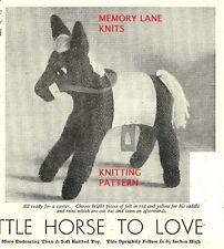 Horse Soft Toy  - Vintage Knitting PATTERN - Retro Pony.                   32