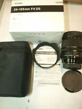 SIGMA 24-105mm F4.0 Art DG OS HSM ZOOM LENS for SONY NEW in FACTORY BOX & CASE