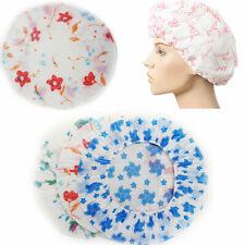 6PCS Waterproof Bath Shower Cap Durable Vinyl Reusable Bath Salon Unisex Caps