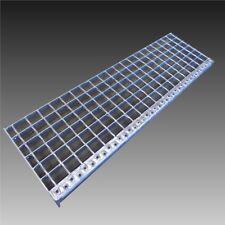 Treppenstufen Metall Stufe 1100x240x30/30mm Gitterroststufen Verzinkt