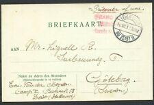 PORTVRIJE BRIEFKAART  PRISONER OF WAR LEGERPLAATS BIJ ZEIST 3, 16.III.17  Zi998