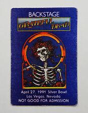 Grateful Dead Backstage Pass Mouse Bertha Las Vegas Unlv 4/27/1991 Nevada Nv