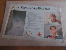 Vintage Wayne Gretzky Rink Rat Print Ad RARE 5 1/2 x 8 Oilers Kings NHL