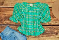Dirndl blouse Puffy sleeve  blouse Traditional Bavarian Oktoberfest  Size 44