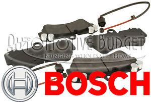 Front Brake Pads w/Sensors Porsche Cayenne & Volkswagen Touareg - NEW BOSCH