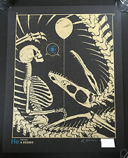 DAN MCCARTHY - Helium - RARE SIGNED art screen print - metallic gold on black