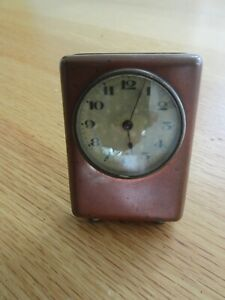 Vintage Wind Up Clock 1950's Not Working  - Bedside Clock