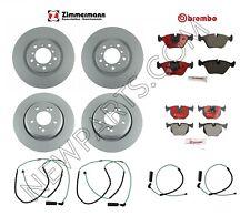 For BMW E46 M3 01-06 Front & Rear Brake Disc Rotors w/ Pads Sensors Brake KIT